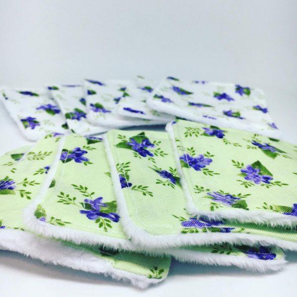 Green Floral Reusable Wipes - 18ACC4AE 2FEC 4A83 8387 BB53634C01A2