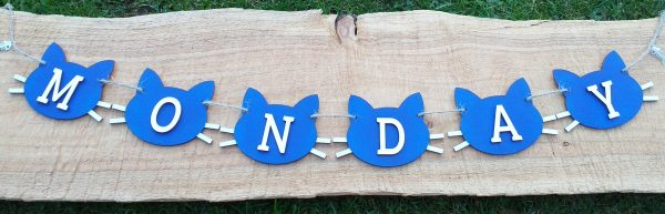 Personalised Cat and Paw Bunting