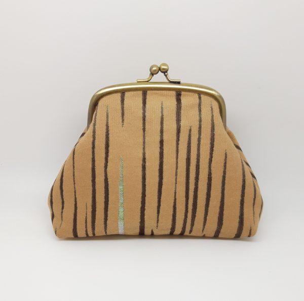 Beige Striped Clutch Bag - 20210202 212038