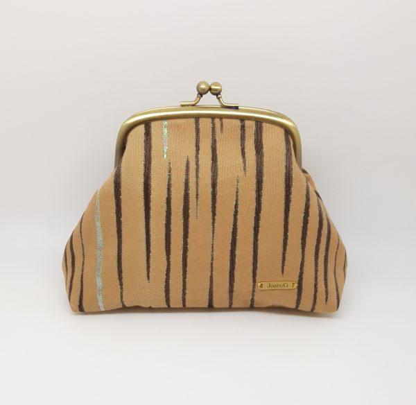 Beige Striped Clutch Bag - 20210202 212059