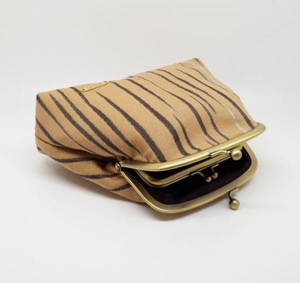Beige Striped Clutch Bag - 20210202 212119