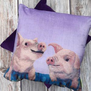 Who's Telling Porkies? - Velvet Cushion
