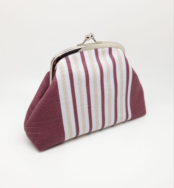 Wine Striped Clutch Bag - 20210210 182007