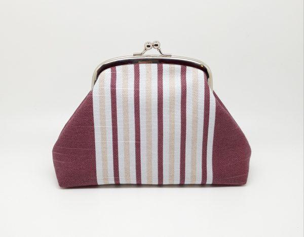 Wine Striped Clutch Bag - 20210210 182027
