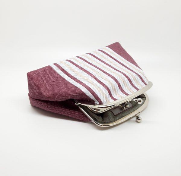 Wine Striped Clutch Bag - 20210210 182132