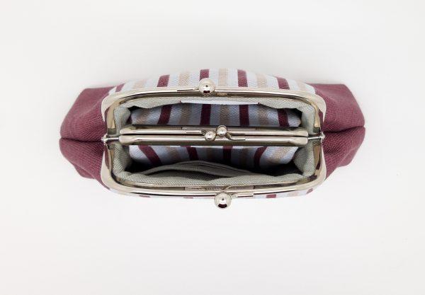 Wine Striped Clutch Bag - 20210210 182338