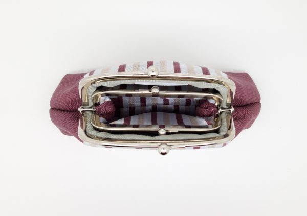 Wine Striped Clutch Bag - 20210210 182418