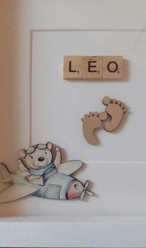 Personalised Baby Boy Name Frame (Plane) - 20210213 173210