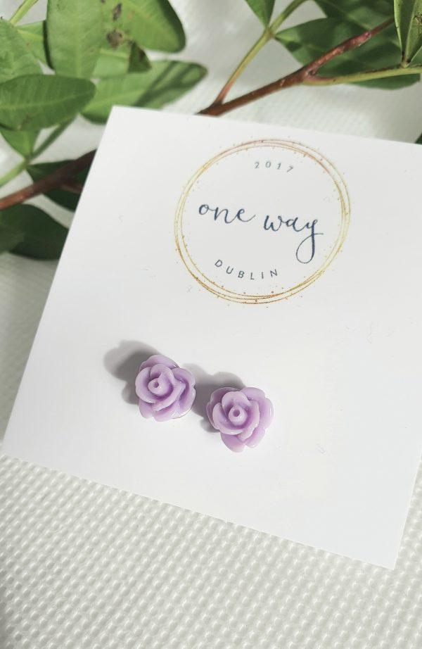 Rose Handmade Mini Silver Stud Earrings - 20210215 111117