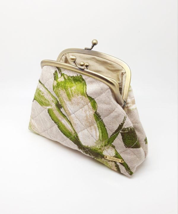 Quilted Green Clutch Bag