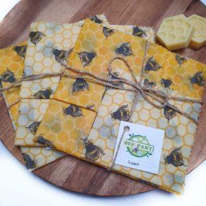 Bee Medium Beeswax Food Wrap 3 Pack