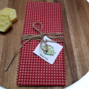 Bee Part XL Red Polka Bread Wrap 45 x 50cm