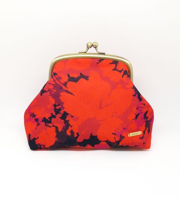 Fire Red Clutch Bag