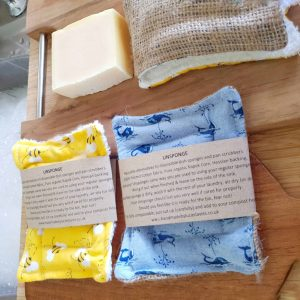 Double stitched handsewn kapok filled Eco-Sponge – 2 Pack