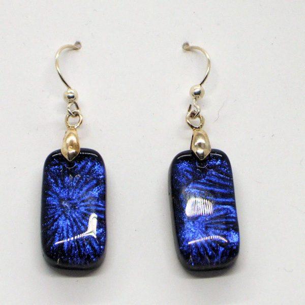 Fused-Glass Drop Earrings - 324 - 324d