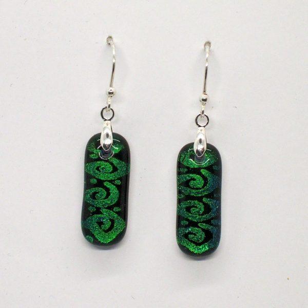 Fused-Glass Drop Earrings - 410 - 410a