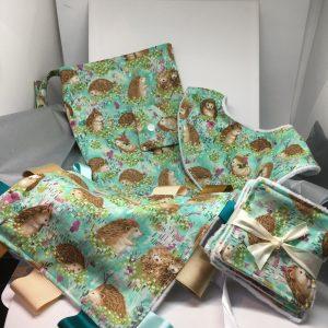 Baby Gift Set Hedgehog Turquoise