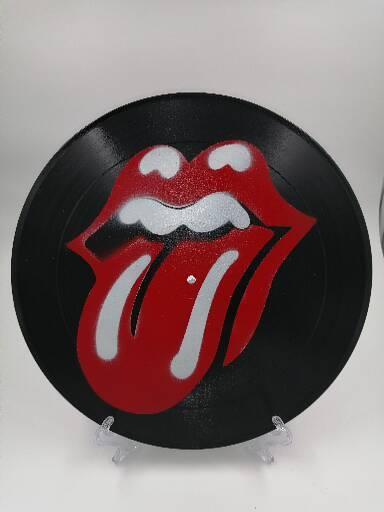 Rolling Stones Spray Paint Vinyl Record