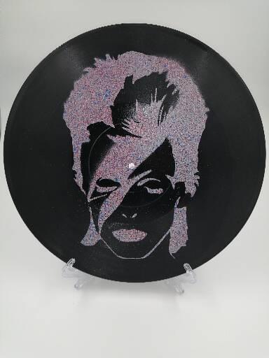 David Bowie Spray Paint Vinyl Record
