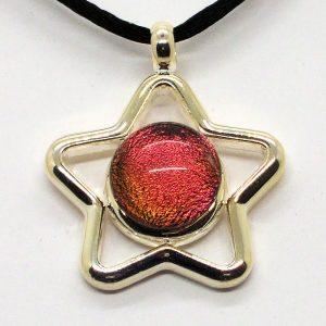 Fused-Glass Jewellery Pendant - 517