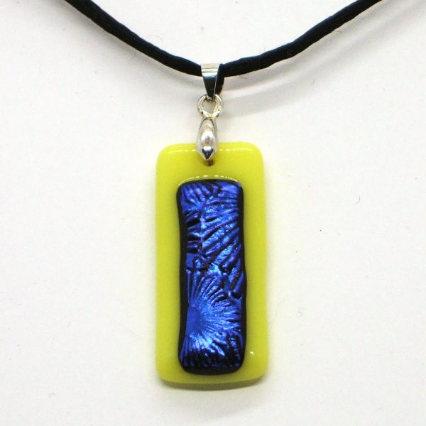 Fused-Glass Pendant - 526b - 526c