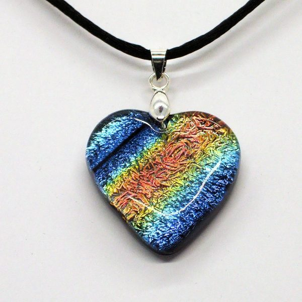 Fused-Glass Pendant - 130a - 527b