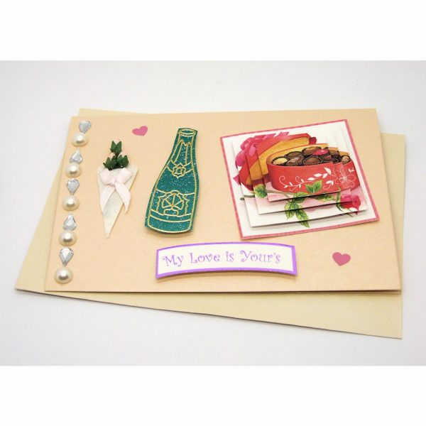 Handmade Love/Valentines Card - 604a - 601d 1