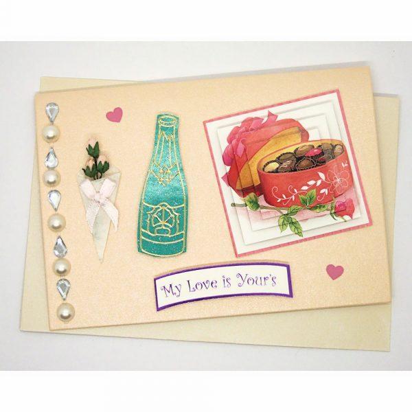 Handmade Love/Valentines Card - 604a - 604