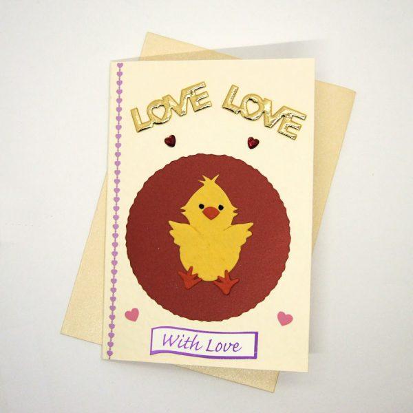 Handmade Love/Valentines Card - 611e - 611e