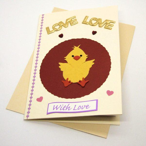 Handmade Love/Valentines Card - 611e - 611f
