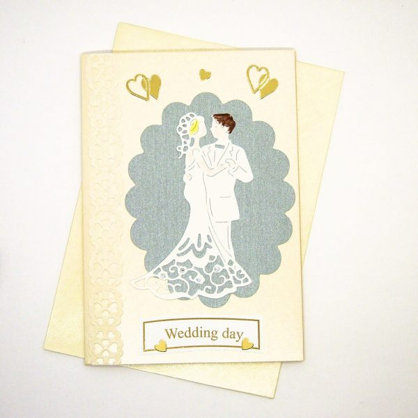 Handmade Wedding Card - 613 - 613a