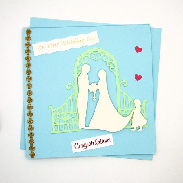 Handmade Wedding Card - 643 - 614a