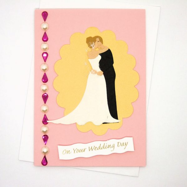 Handmade Wedding Card - 617 - 617a
