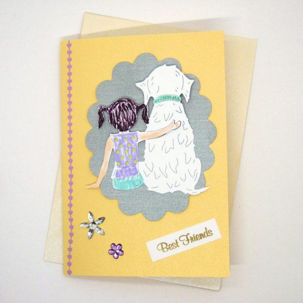 Handmade Best Friends Card - 624