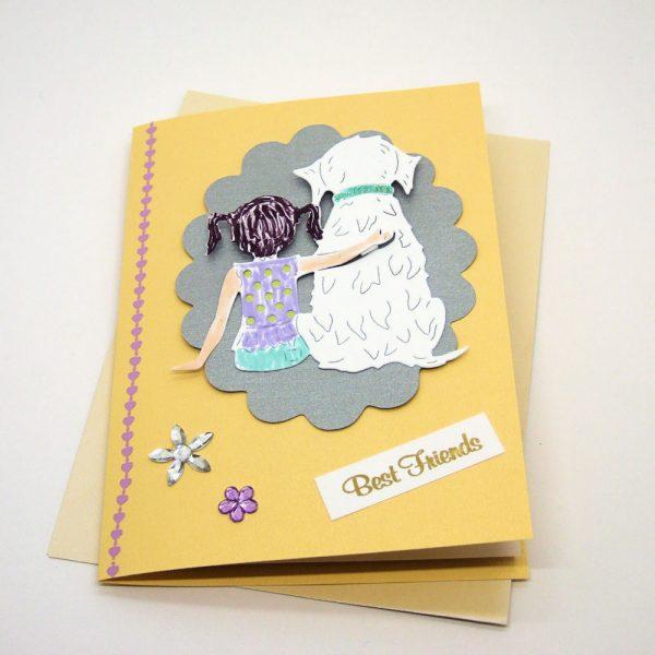 Handmade Best Friends Card - 624 - 624b