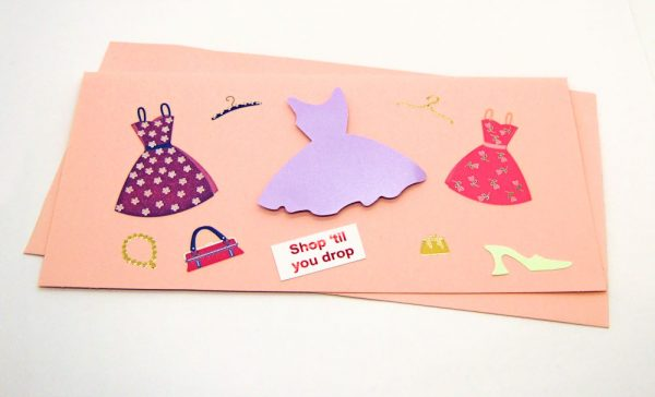 Handmade 'Shop til you drop' Card - 637