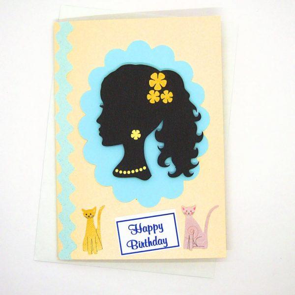 Handmade Birthday Card - 34c - 650b