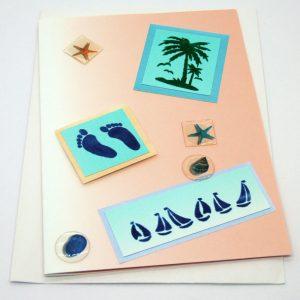Handmade 'Greetings' Card - 662