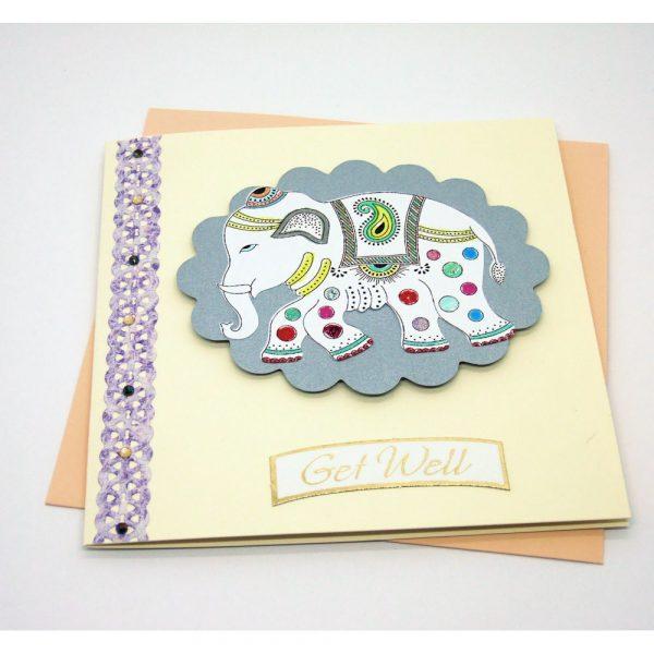 Handmade 'Get well' Card - 668 - 668b