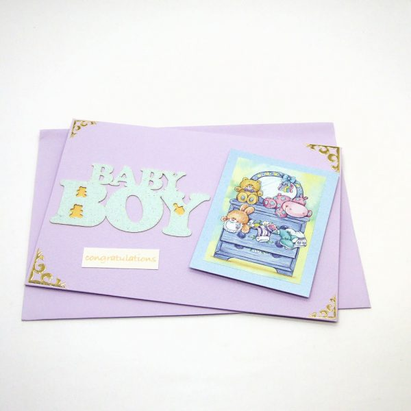 Handmade Baby Card - 672 - 672b