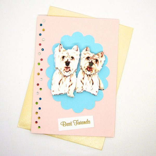 Handmade Best Friends Card - 674 - 674a