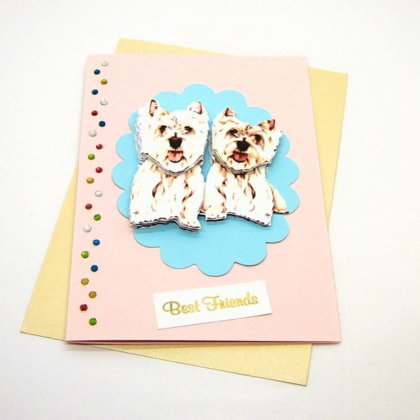 Handmade Best Friends Card - 674 - 674b
