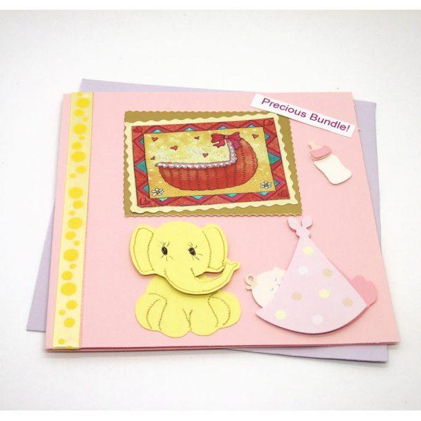 "Handmade ""New baby"" Card - 678 - 678a"