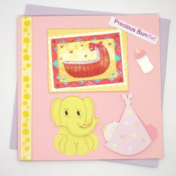 "Handmade ""New baby"" Card - 678 - 678b"