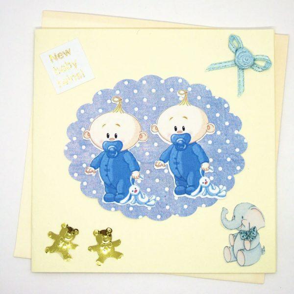 Handmade 'Baby twins' Card - 679 - 679a