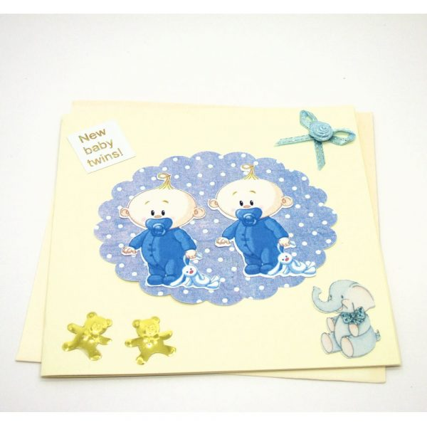Handmade 'Baby twins' Card - 679 - 679b