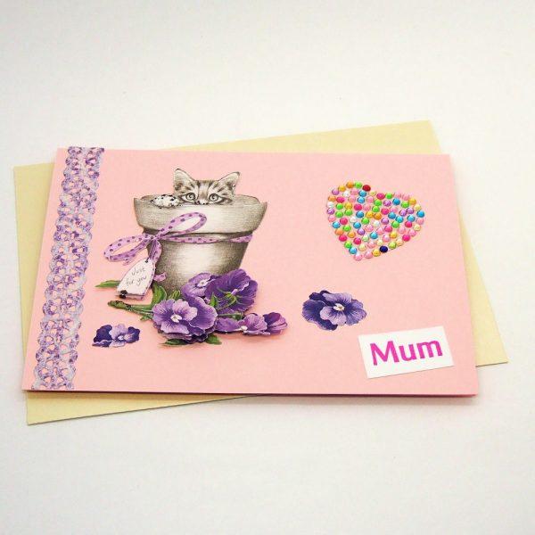 Handmade 'Mum / Mothers' Day' Card - 686 - 686b