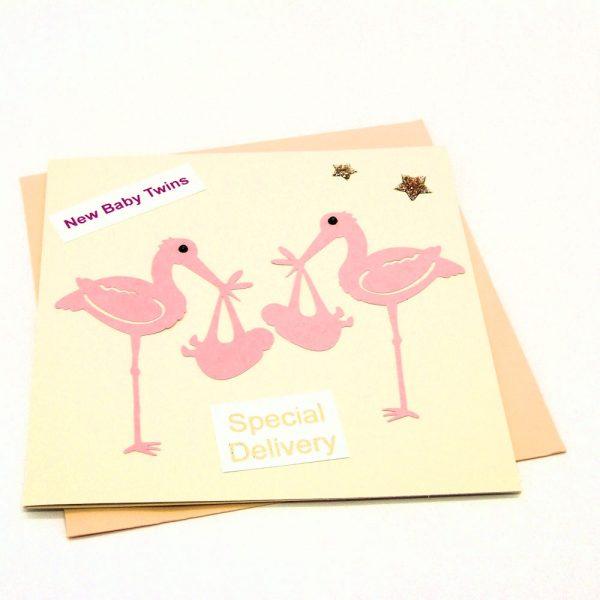 Handmade 'Baby twins' Card - 689 - 689b