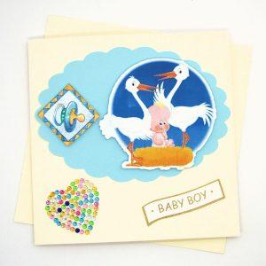 Handmade 'Baby boy' Card - 690