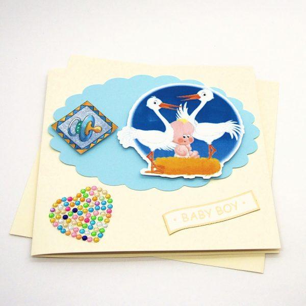Handmade 'Baby boy' Card - 690 - 690b